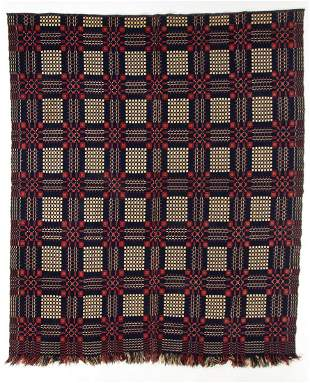 AMERICAN DOUBLE WEAVE COVERLET