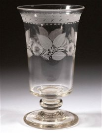 FREE-BLOWN AND ENGRAVED CELERY GLASS