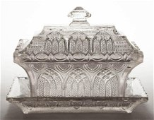 PRESSED LACY GOTHIC ARCH AND HEART RECTANGULAR DISH
