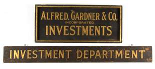 AMERICAN FOLK ART PAINTED WOODEN TRADE SIGNS, LOT OF