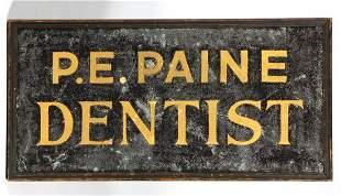 AMERICAN FOLK ART PAINTED TIN TRADE SIGN