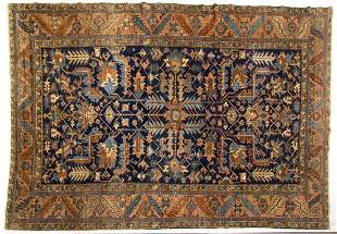 ANTIQUE PERSIAN HERIZ ORIENTAL ROOM-SIZE RUG / CARPET