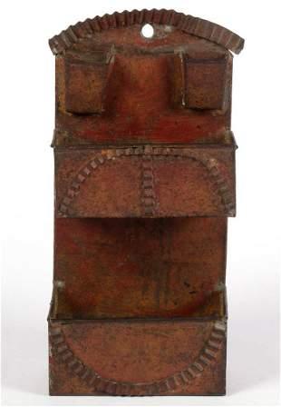 PAINT DECORATED SHEET-IRON MATCH HOLDER WALL BOX
