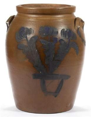 JAMES RIVER, VIRGINIA ATTRIBUTED DECORATED STONEWARE