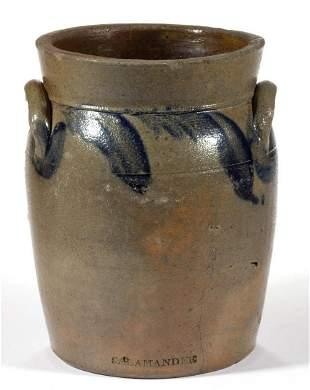RICHMOND, VIRGINIA ATTRIBUTED DECORATED STONEWARE JAR