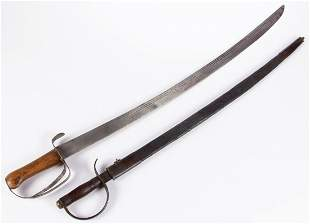 AMERICAN MILITARY SWORD / SABRES, LOT OF TWO