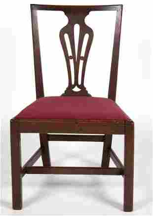 RARE VIRGINIA CHIPPENDALE WALNUT SIDE CHAIR