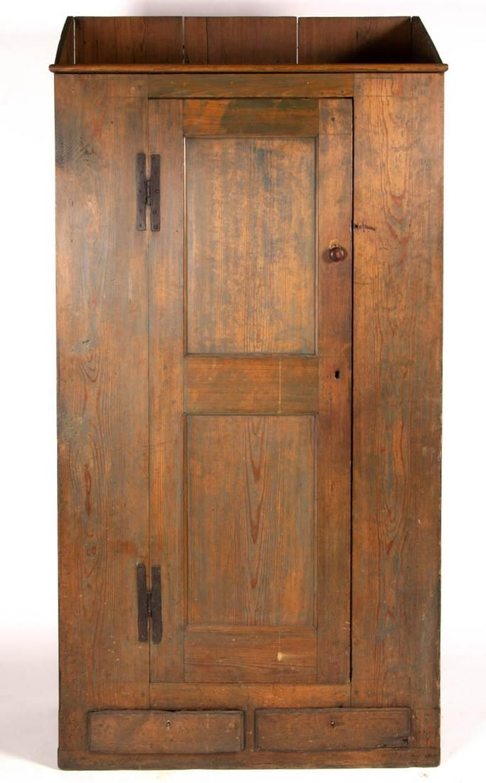 SOUTHERN PAINTED YELLOW PINE FLATWALL CUPBOARD