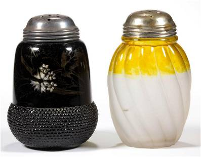 ASSORTED GLASS SUGAR SHAKERS, LOT OF TWO