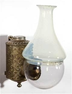 ANGLE LAMP CO. PINWHEEL KEROSENE WALL LAMP