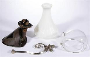 ANGLE LAMP CO. METAL KEROSENE WALL CONE LAMP