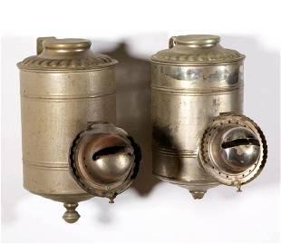 ANGLE LAMP CO. PLAIN CAN KEROSENE WALL LAMPS, LOT OF