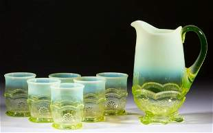 MANILA / WREATH AND SHELL SEVEN-PIECE WATER SET