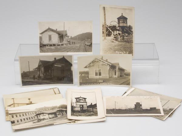 2: RAILROAD STRUCTURES REAL PHOTO POST CARDS, LOT OF 13