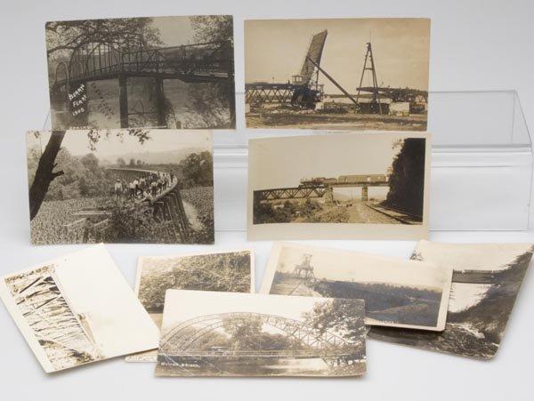 3: BRIDGE REAL PHOTO POST CARDS, LOT OF NINE