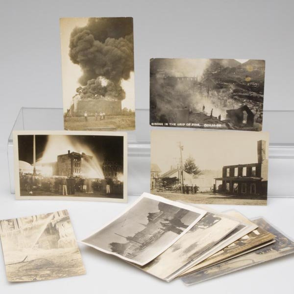 6: DISASTER / FIRE REAL PHOTO POST CARDS, LOT OF 14