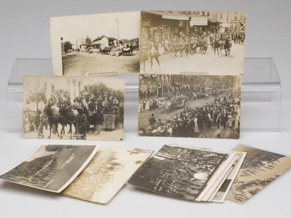 20: PARADE SCENE REAL PHOTO POST CARDS, LOT OF 15