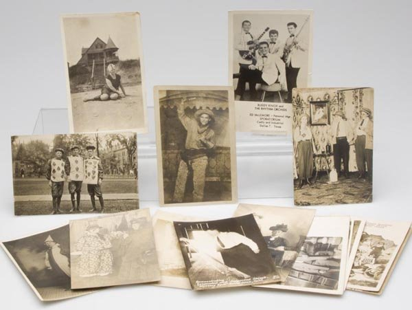 22: STAGED VIGNETTES REAL PHOTO POST CARDS, LOT OF 17