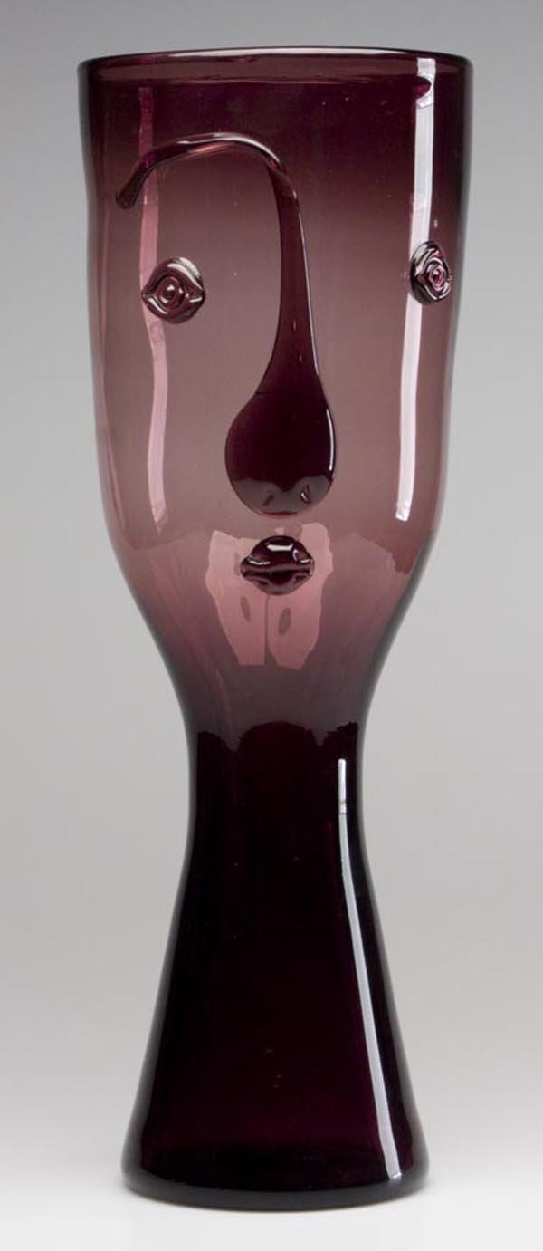 140: BLENKO GLASS - WAYNE HUSTED DESIGN #552 PORTRAIT V