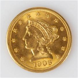 UNITED STATES LIBERTY HEAD $2.5 GOLD COIN