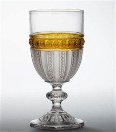 DUNCAN NO. 95 / GONTERMAN - AMBER-STAINED GOBLET