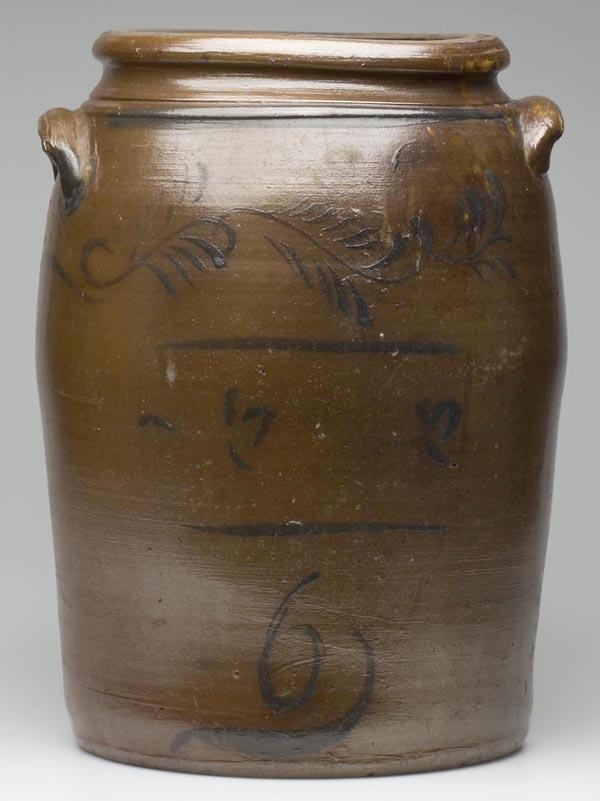17: WESTERN PENNSYLVANIA STONEWARE TWO-HANDLE JAR