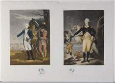 172: PAIR OF FRENCH PUBLISHED AMERICAN HISTORICAL PRINT