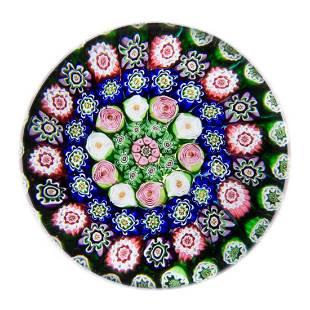 ANTIQUE CLICHY CONCENTRIC MILLEFIORI ART GLASS