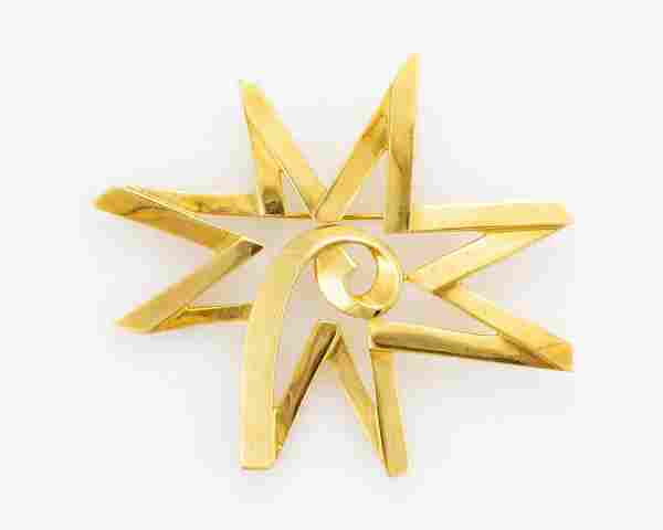 """PALOMA PICASSO FOR TIFFANY & CO. 18K YELLOW GOLD """"SUN"""