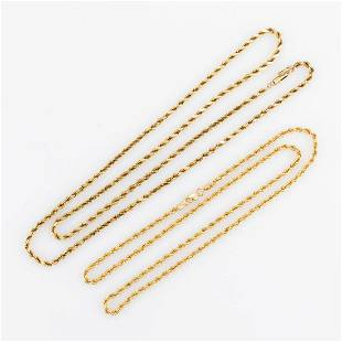 VINTAGE / CONTEMPORARY 14K / 10K-14K YELLOW GOLD ROPE