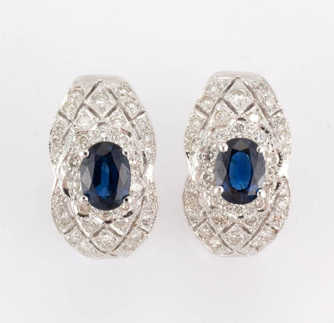 VINTAGE / CONTEMPORARY 18K WHITE GOLD, DIAMOND, AND
