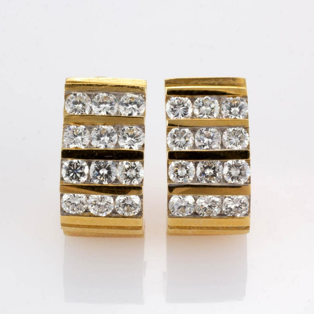 VINTAGE / CONTEMPORARY 14K YELLOW GOLD AND DIAMOND