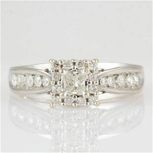 VINTAGE / CONTEMPORARY 14K WHITE GOLD AND DIAMOND