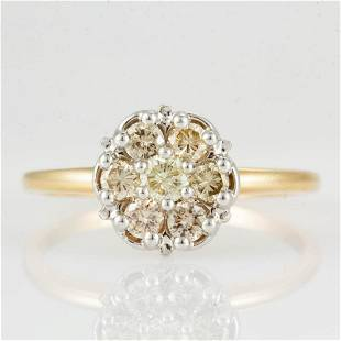 VINTAGE 14K GOLD AND DIAMOND LADY'S RING