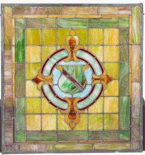 LEADED- AND STAINED-GLASS WINDOW