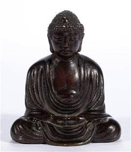 CHINESE BRONZE SMALL BUDDHA FIGURE