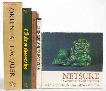 ASIAN DECORATIVE ARTS REFERENCE VOLUMES, LOT OF FIVE
