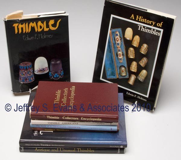 15: THIMBLES REFERENCE VOLUMES, LOT OF NINE