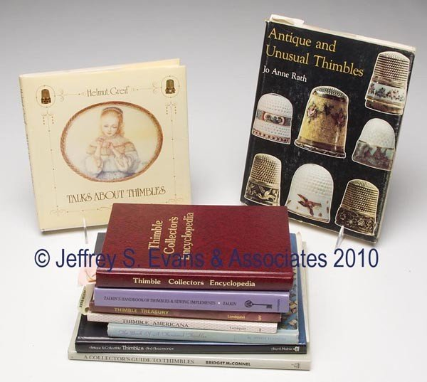 16: THIMBLES REFERENCE VOLUMES, LOT OF TEN