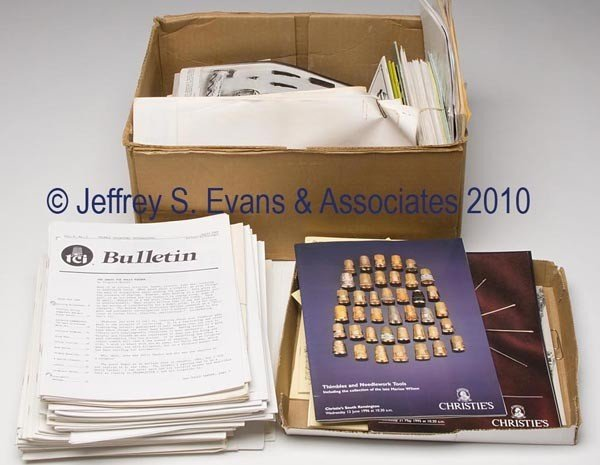 17: THIMBLE AND SEWING JOURNALS AND RESEARCH MATERIALS,