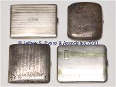 538: FOUR ASSORTED SILVER AND GOLD CIGARETTE CASES