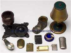 572 ELEVEN ASSORTED METALS SMOKING ACCESSORIES