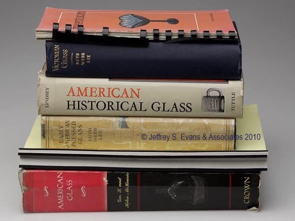 3: AMERICAN PRESSED GLASS REFERENCE BOOKS, LOT OF SEVEN