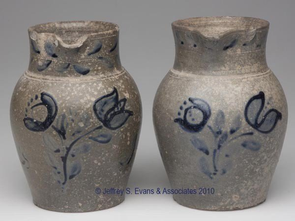 1: PAIR OF ZIGLER POTTERY ATTRIBUTED, TIMBERVILLE, VA D