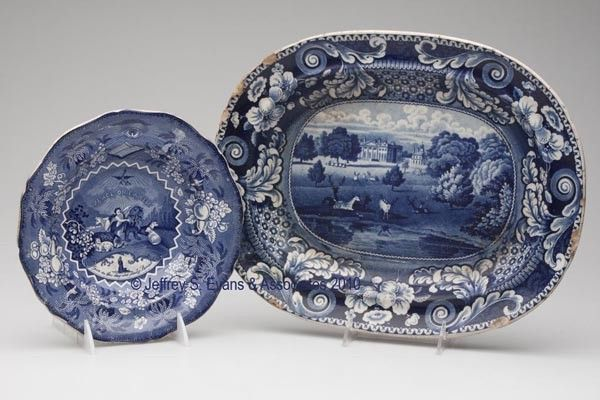 701: STAFFORDSHIRE TRANSFERWARE ARTICLES, LOT OF TWO