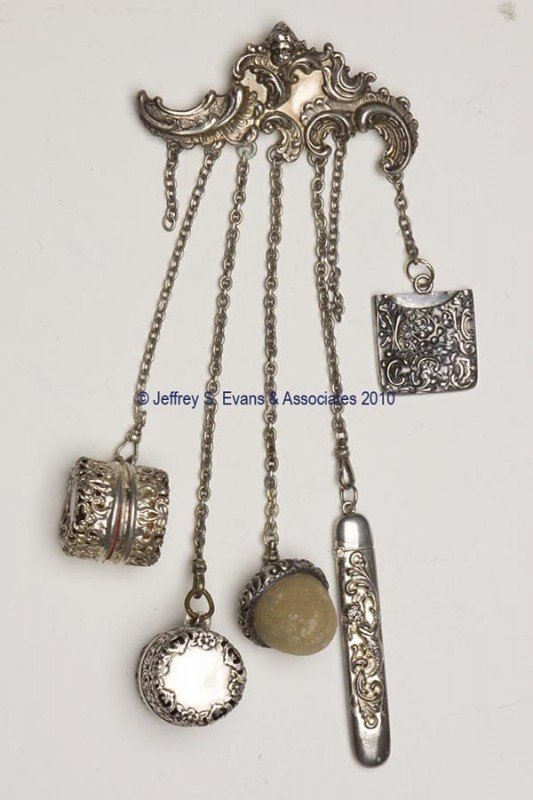 8: STERLING SILVER NEEDLEWORKING CHATELAINE