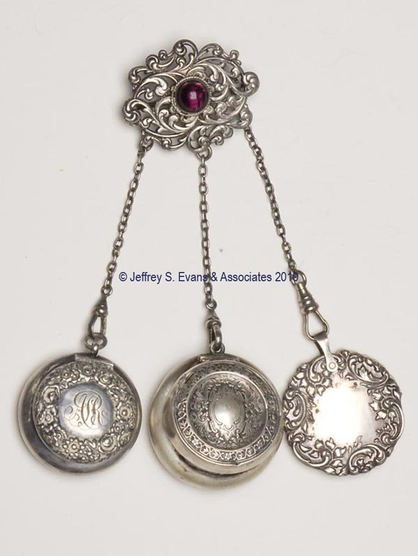 15: SILVER-LIKE DANCE CHATELAINE