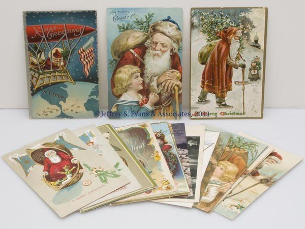 14: ASSORTED SANTA CLAUS POST CARDS, LOT OF 20