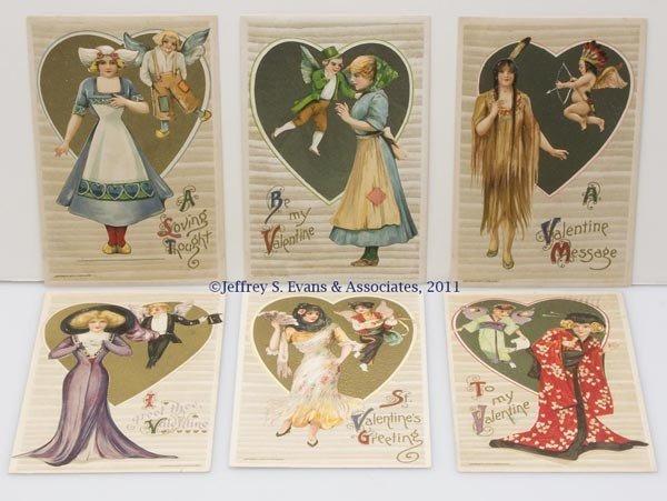 18: WINSCH SCHMUCKER VALENTINE SERIES POST CARDS, SET O