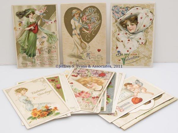 19: ASSORTED WINSCH AND WINSCH-BACK VALENTINE POST CARD